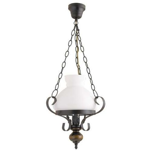 Rabalux Lampa wisząca petronel 1x60w e27 czarny mat/orzech 7076