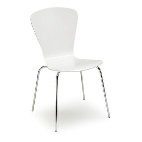 Krzesło do stołówki MILLA, sztaplowane, biały, 135312