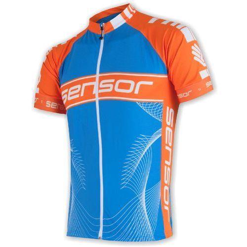 Sensor męska koszulka rowerowa cyklo team blue/orange (8592837040080)