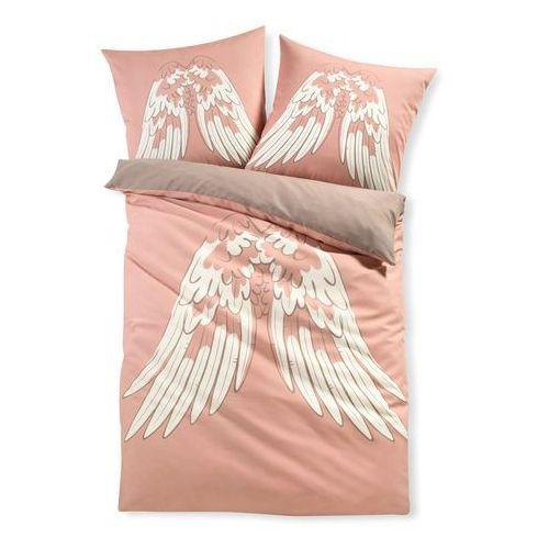 Pościel dwustronna ze skrzydłami anioła bonprix jasnoróżowy, kolor różowy