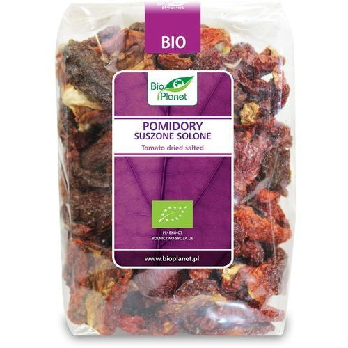 Bio planet - seria fioletowa (owoce suszone) Pomidory suszone solone bio 400 g - bio planet (5902605410145)
