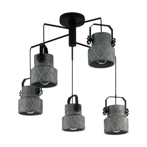 Eglo 39856 hilcott oprawa wisząca stal czarny / stal vintage loft