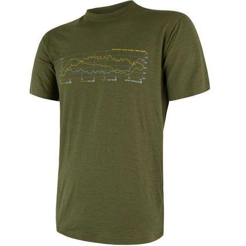 Sensor Merino Active PT TRACK Men's T-Shirt Short Sleeves Zielony XL 2018-2019 (8592837047188)
