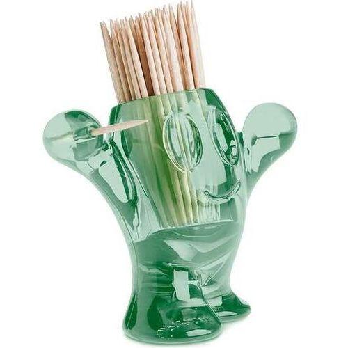 Podajnik wykałaczek pic'nix transparentny zieleń eukaliptusowa, 3014656