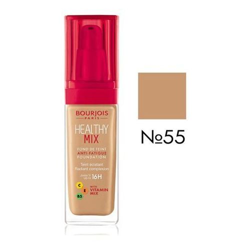 Bourjois, Healthy Mix Anti-Fatigue. Podkład rozświetlający, 55 Dark Beige, 30ml - Bourjois