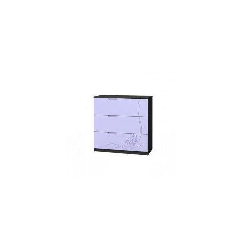 Komoda szeroka 3 szuflady lilarose graphite marki Baggi design