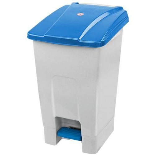 Kosz na odpady z pokrywą niebieską otwieraną nogą 70 litrów kosz na odpady medyczne, kosz do szpitala marki Planet