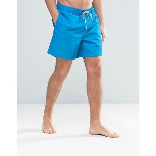 Original Penguin Swim Shorts Small Logo in Blue - Blue