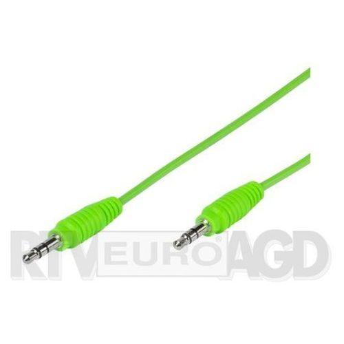 Vivanco Kabel jack 3.5 mm - jack 3.5 mm 1m zielony (4008928358131)