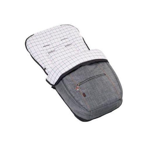 Hartan śpiworek do wózka lato/zima square grey (760) (4015538033242)