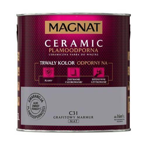 Farba magnat ceramic grafitowy marmur 2,5 l marki Śnieżka
