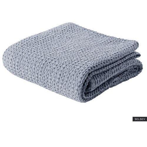 SELSEY Narzuta na łóżko Alpinia bawełniana popielata (5903025481722)