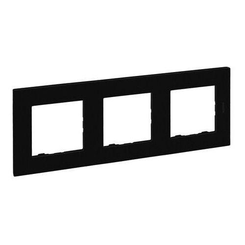 Legrand Ramka potrójna niloe step czarna (3414971843431)
