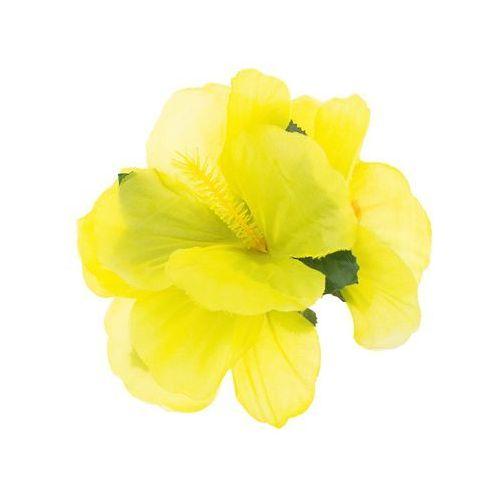 Hawajska przypinka duża kwiatek żółty - 1 szt.