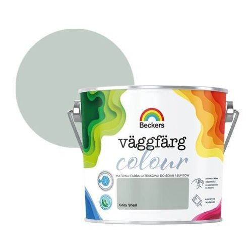 Farba lateksowa vaggfarg colour grey shell 2,5 l marki Beckers