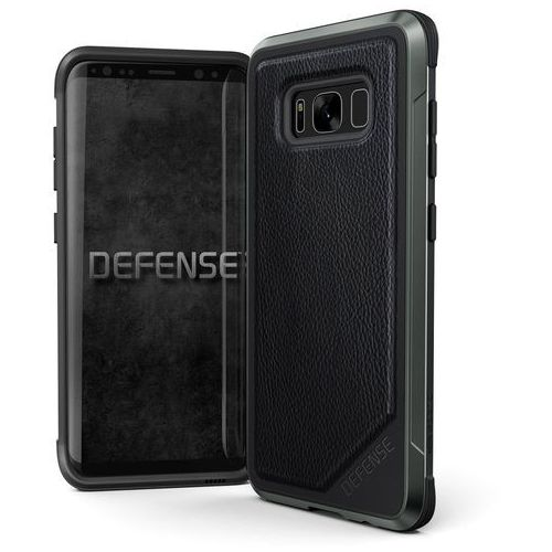X-Doria Defense Lux - Etui aluminiowe Samsung Galaxy S8 (Black Leather) (6950941456593)