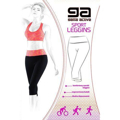 Legginsy 44651 sport leggins l, fioletowy/purple melange. gatta, l, m, s marki Gatta