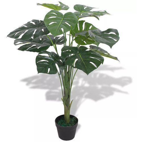 sztuczna roślina monstera z doniczką, 70 cm, kolor zielony marki Vidaxl
