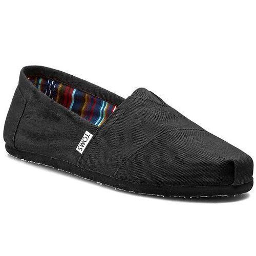 Półbuty TOMS - Classic Alpargata 10002931 Black/Black, w 4 rozmiarach