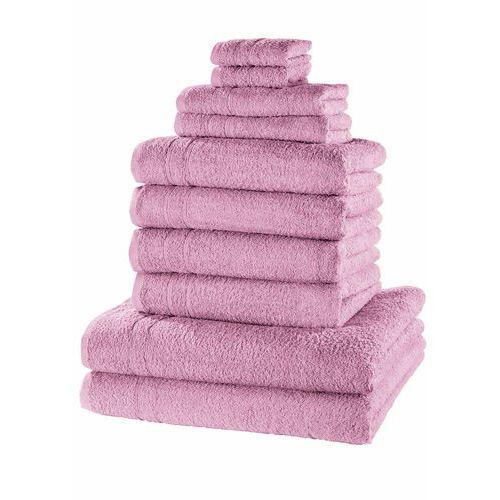 Komplet ręczników (10 części) dymny lila marki Bonprix