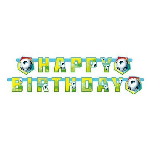 Baner urodzinowy Happy Birthday Piłka Nożna - 1 szt.