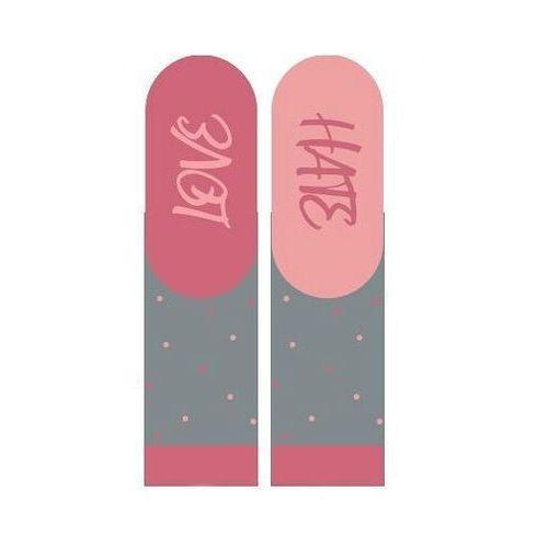 Skarpety 3139 walentynkowe instrukcje damskie rozmiar: 35-40, kolor: różowy, soxo, Soxo