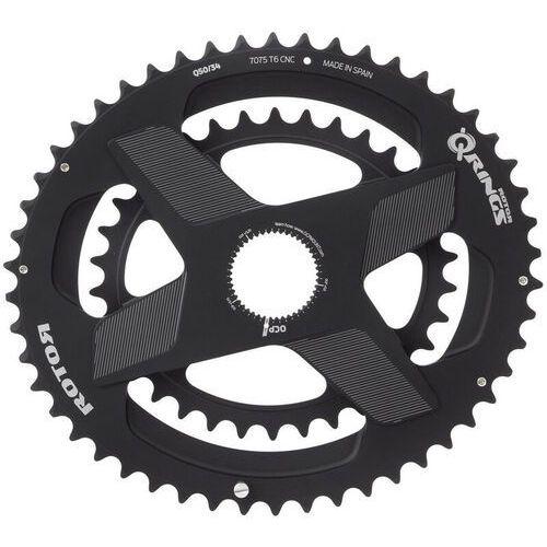 Rotor aldhu direct-mount zębatka rowerowa owalne czarny 50/34 zęby 2018 zębatki przednie (8434366009377)