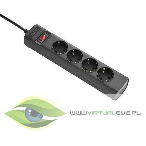 Apc listwa zasilająca pz42iz-gr wejście c14 wyjście 4 x schuko kabel 1,5m, locking