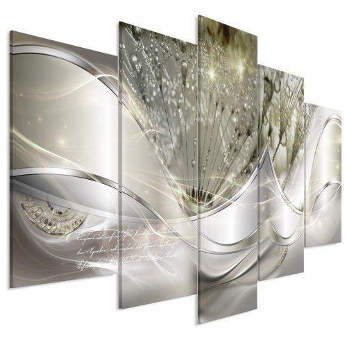 Artgeist Obraz - nowoczesne dmuchawce (5-częściowy) zielony szeroki