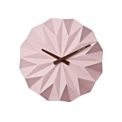 Karlsson Zegar ścienny origami ceramic matt soft pink by