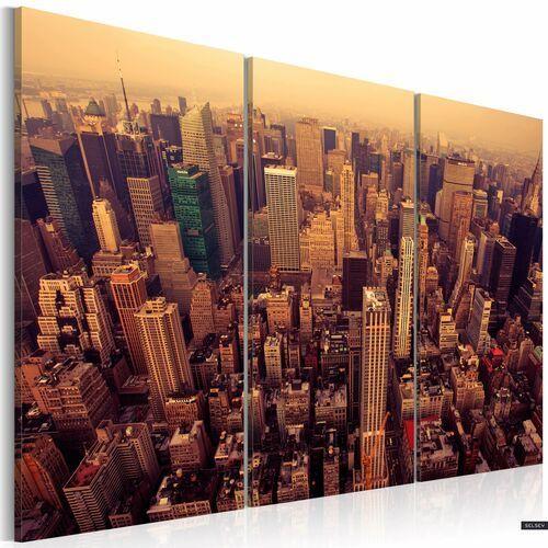 SELSEY Obraz - Zachód słońca nad Nowym Jorkiem 120x80 cm