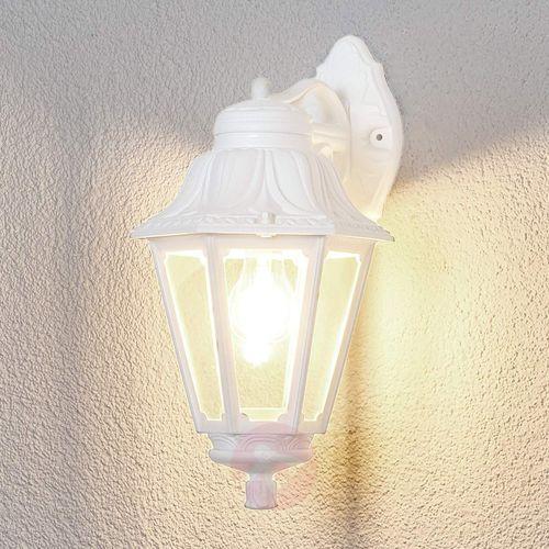 Świecąca w dół latarenka - biała lampa zewnętrzna (8031874076817)