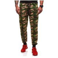Spodnie dresowe joggery męskie moro-zielone denley 5121, Jim poweel