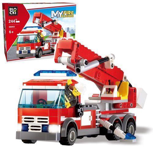 Klocki Blocki, Straż pożarna, Samochód z podnośnikiem, 244 elementów