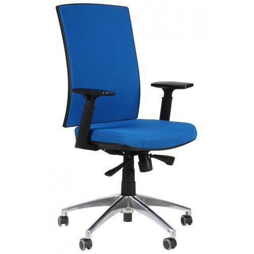 Krzesło biurowe obrotowe z podstawą aluminiową kb-8922b/alu/niebieski, fotel biurowy marki Stema - kb