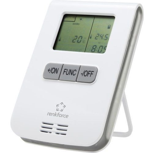 Miernik energii/termostat RS2W Renkforce 1429366, 3-kanałowy, 868 MHz, 150 m, 150 m