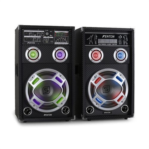 Skytec KA-10 zestaw aktywnych głośników PA karaoke,USB,SD,
