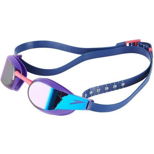 Speedo fastskin elite mirror okulary pływackie fioletowy/niebieski 2018 okulary do pływania