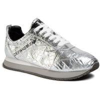 Calvin klein Sneakersy jeans - jerrold metallic crinkle s0582 silver