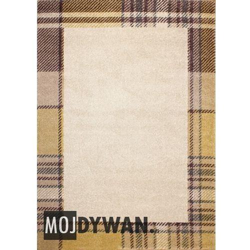 Dywanstyl.pl Dywan alice kraciasta ramka żółty 160x230 prostokąt