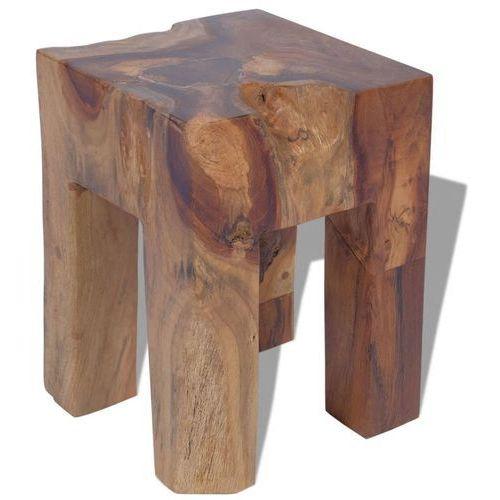 stołek z drewna tekowego 30x30x40 cm marki Vidaxl