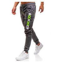 Spodnie męskie dresowe joggery grafitowe denley kk550 marki J.style