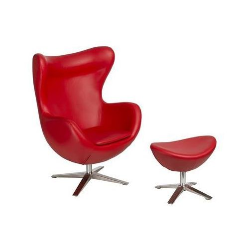 Fotel jajo szeroki z podn. sk. eko 513 czerwony marki D2design