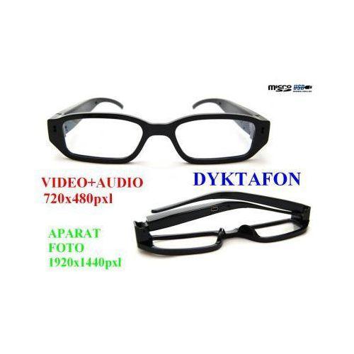 Szpiegowskie Okulary (zerówki), Nagrywające Obraz i Dźwięk + Dyktafon + Aparat Foto..., 590737155201