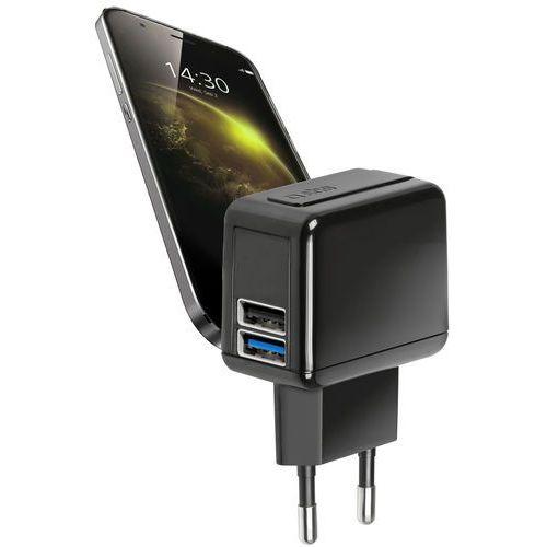 Ładowarka 2100 mah travel charger 2xusb czarny marki Sbs