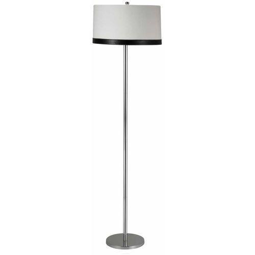CANDELLUX TIDA 51-31320 Lampa podłogowa 1x60W E27 chrom / abażur płótno / skóra, 51-31320