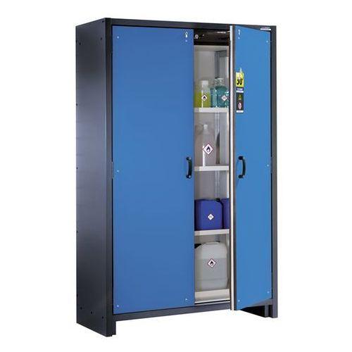 Szafa na substancje niebezpieczne, odporna na działanie ognia, 2-drzwiowa, typ 3 marki Eurokraft