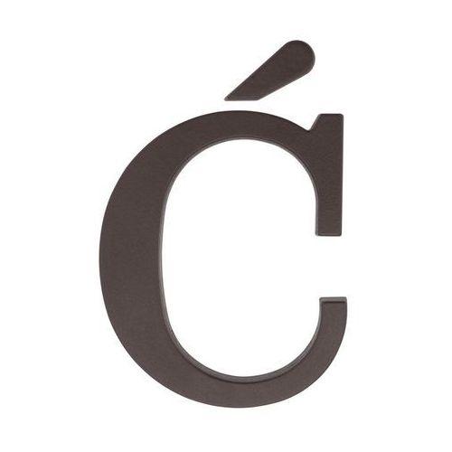 Litera Ć wys. 9 cm PVC brązowa (5901912823266)