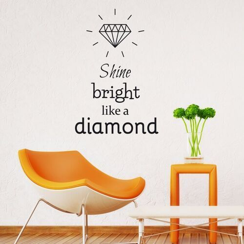 Wally - piękno dekoracji Naklejka ścienna shine bright like a diamond 2496