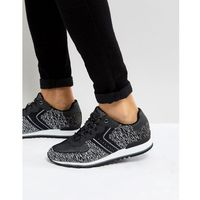 BOSS Parkour Knitted Running Trainers in Black - Black
